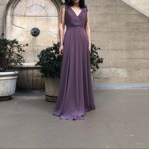 Lulus floor length dress in dusty purple
